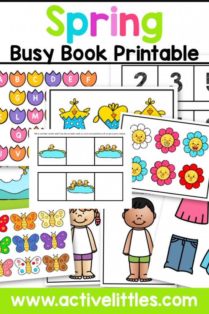 Spring Busy Book Printable - Active Littles