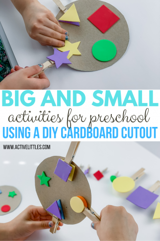 Big and Small Activities for Preschool using Cardboard Cutouts