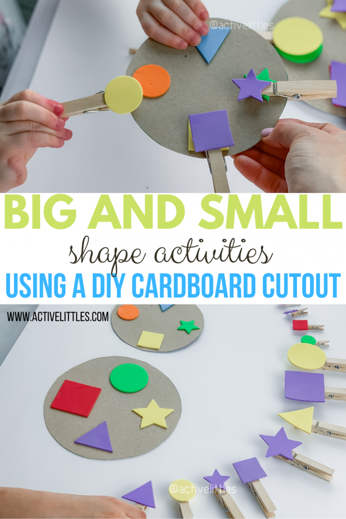 big and small shape activities for kids