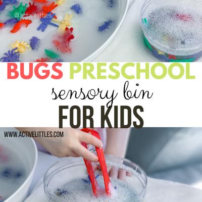 bugs preschool sensory bin for kids