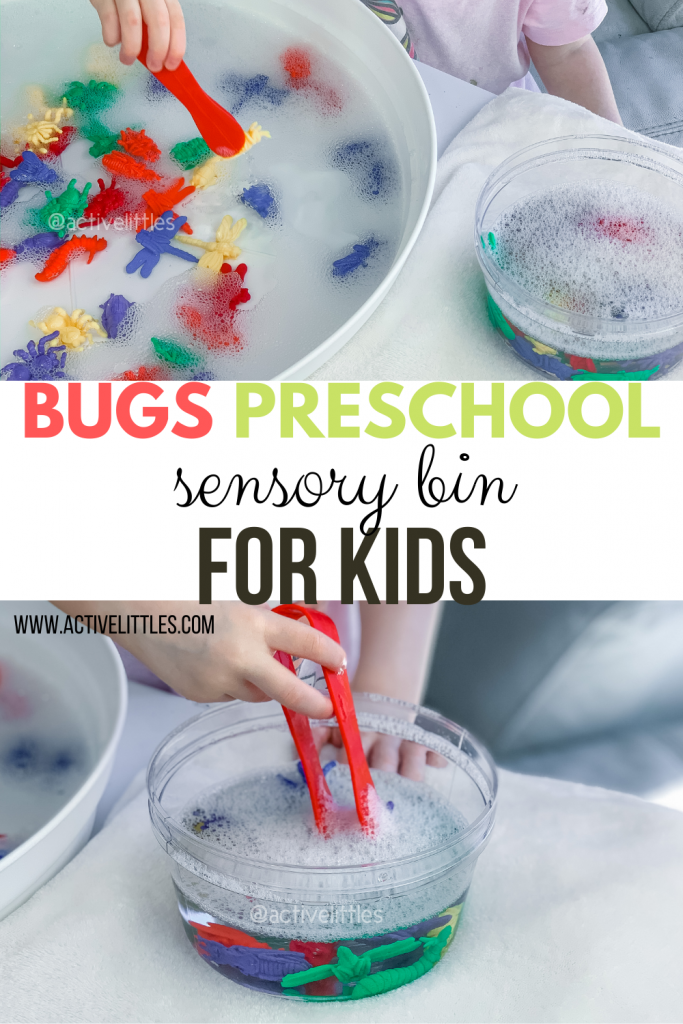 bugs preschool sensory bin for kids