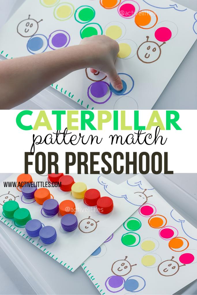 caterpillar math activity for kindergarten
