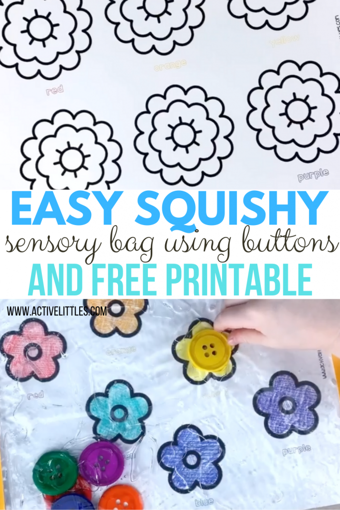 diy squishy sensory bag for kids and free printable