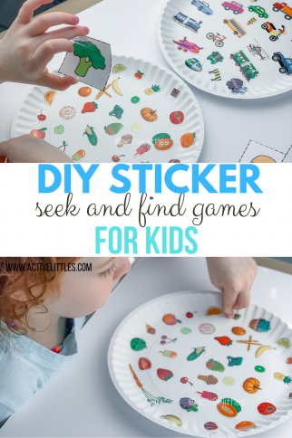 DIY Sticker Seek and Find Games