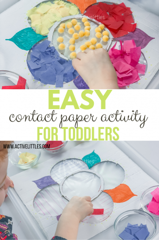 Easy Contact Paper Activity for Toddlers