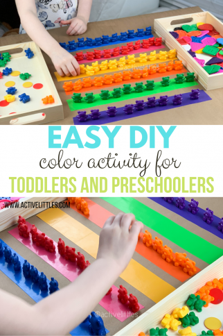 Easy DIY Color Activity for Toddlers and Preschoolers