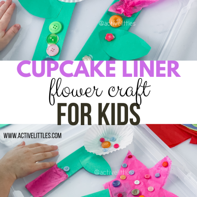 flower craft using cupcake liners for kids