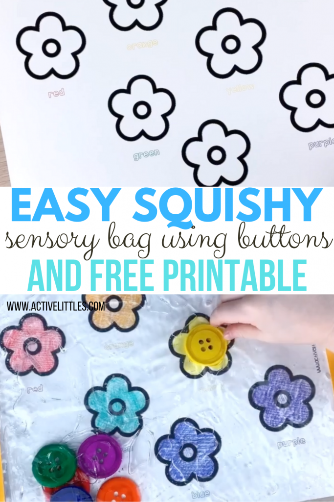 free printable and sensory bag for kids