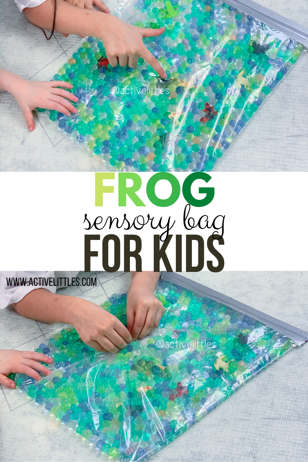 frog sensory bag for kids