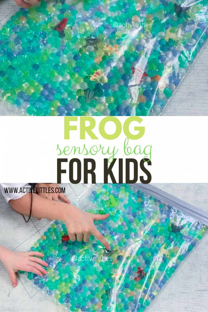 frog sensory play for kids