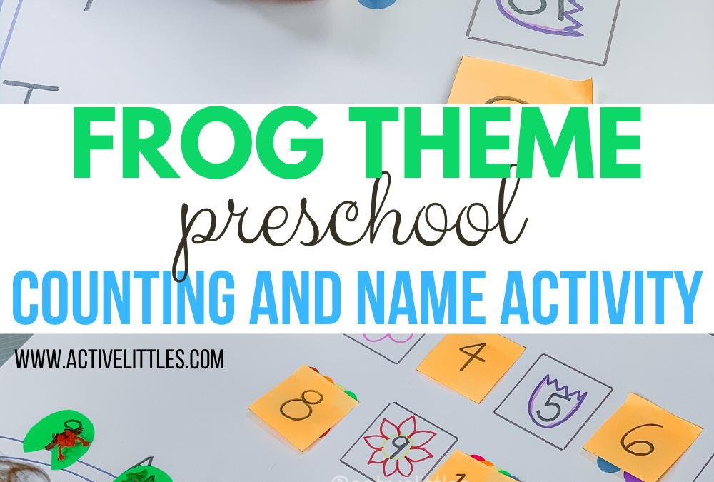 Frog Theme Preschool Counting and Name Match Activity