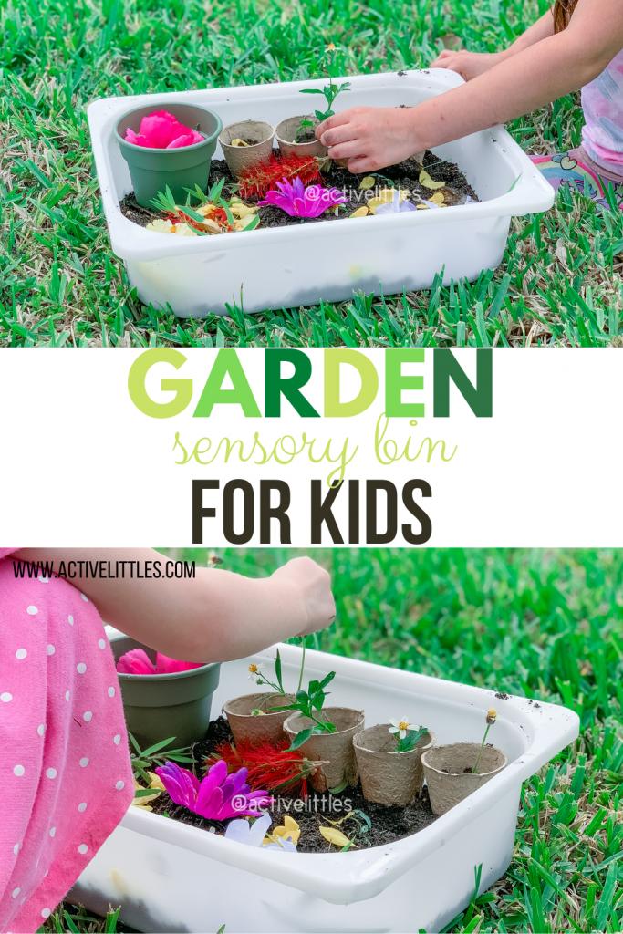garden sensory bin