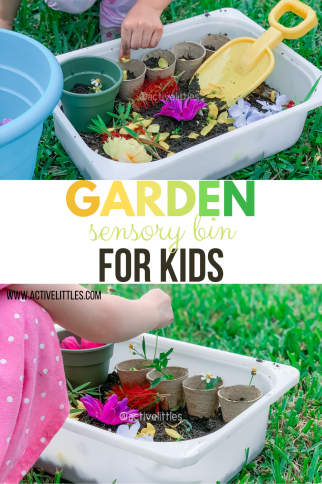 Garden Sensory Bin for Kids
