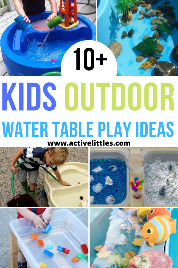 kids outdoor water table play ideas