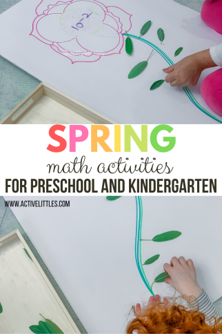 Spring Math Activities for Preschoolers and Kindergarten