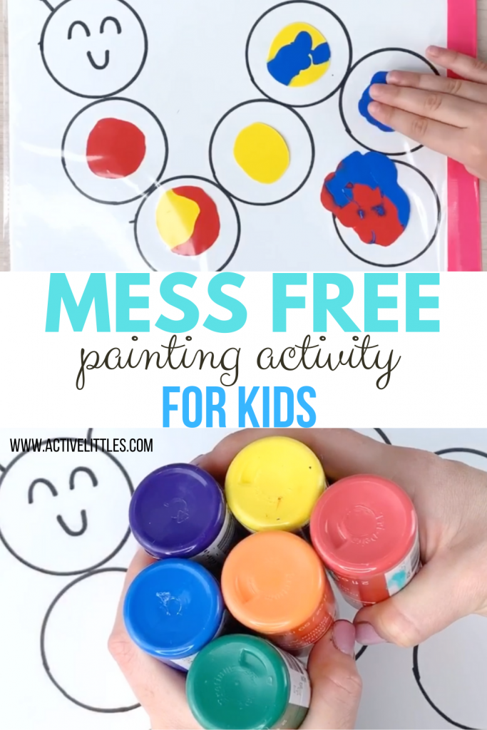 mess free painting for kids