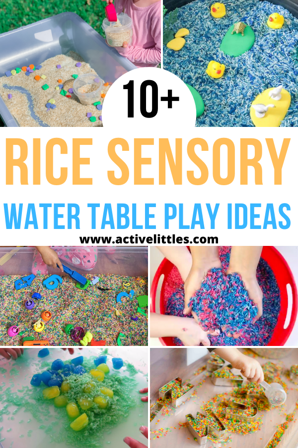 rice sensory table play ideas for kids