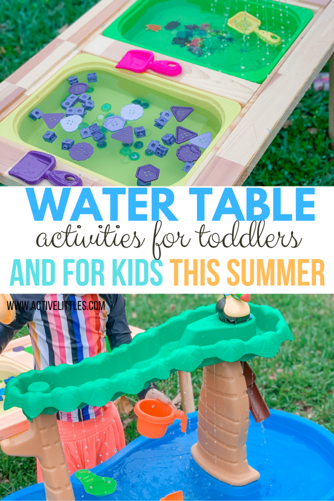 summer activities for kids using water tables