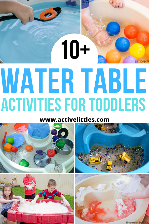 water table activities for toddlers