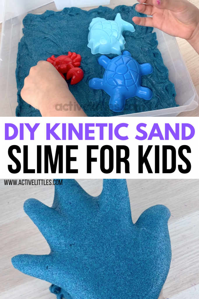 DIY kinetic sand slime