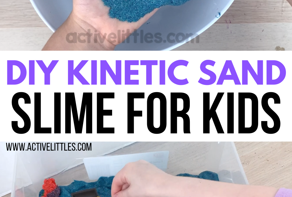 DIY Kinetic Sand Slime Recipe for Kids