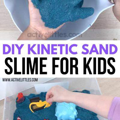 DIY kinetic sand slime recipe for kids