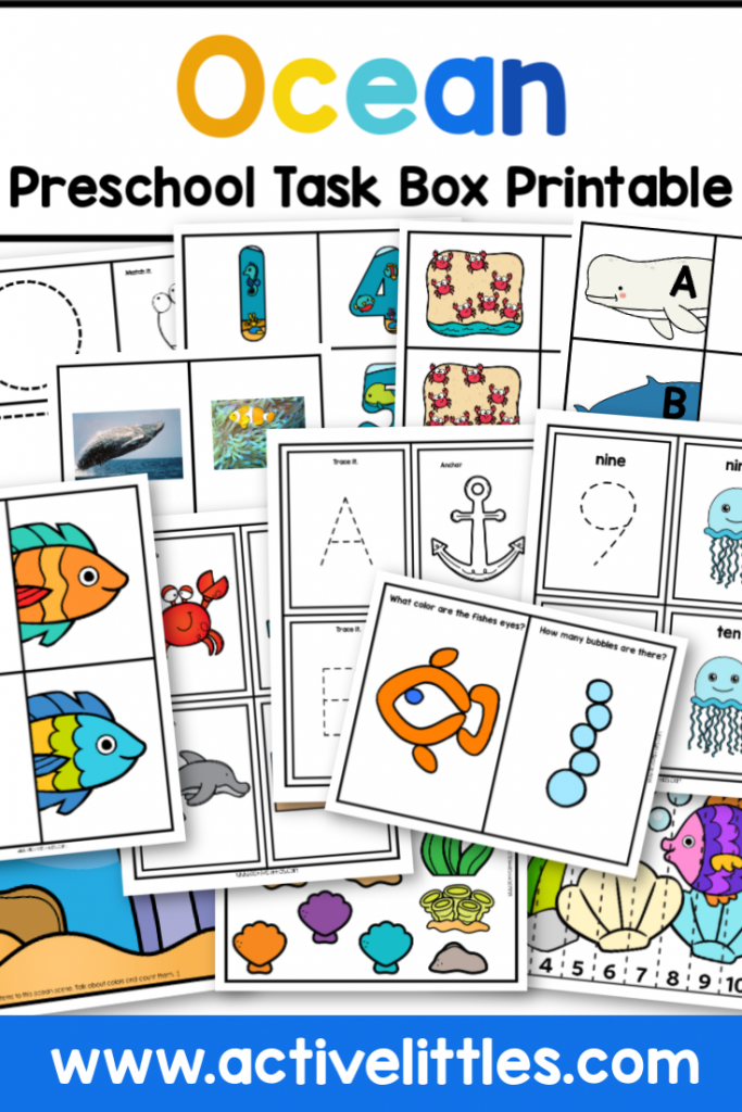 Ocean Preschool Learning Pack Printable