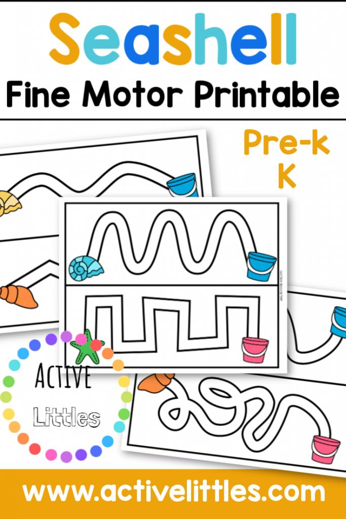 Seashell Fine Motor Printable Activity - Active Littles