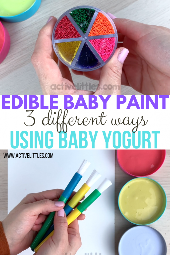 diy edible baby paint for babies