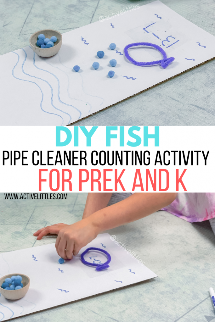 diy fish pipe cleaner counting activity