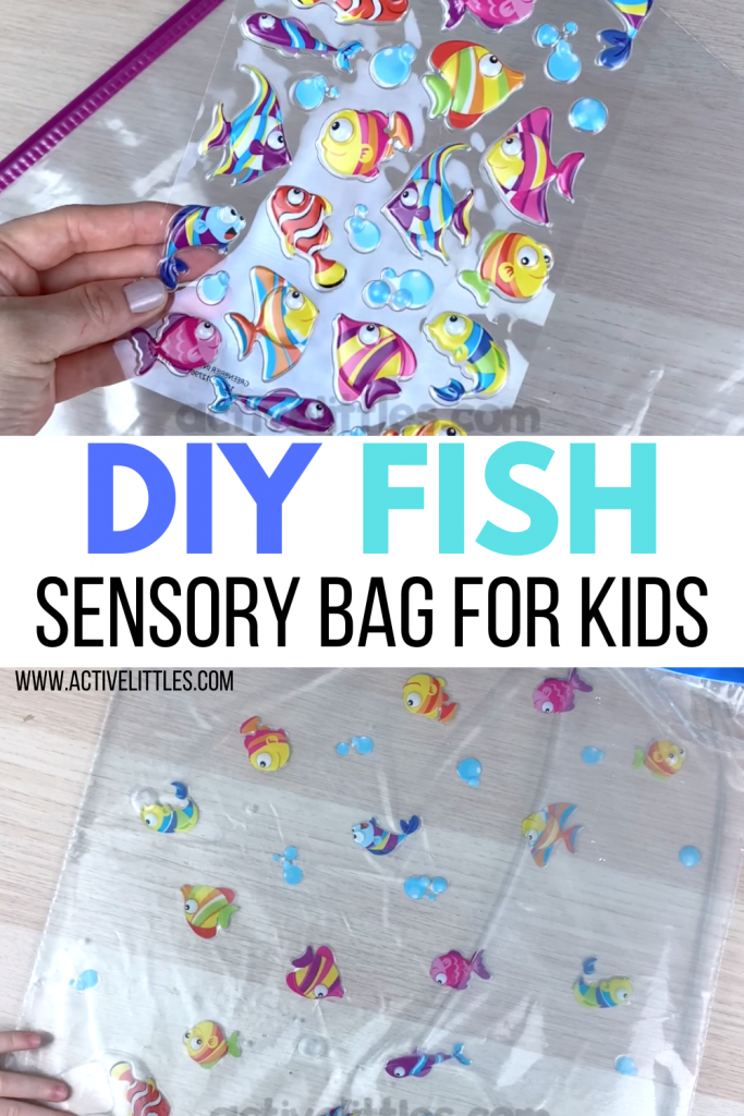diy fish sensory bag for kids