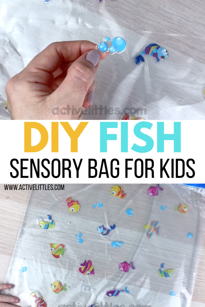 diy fish sensory bag sensory play for kids