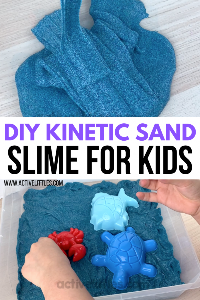 diy kinetic sand slime recipe