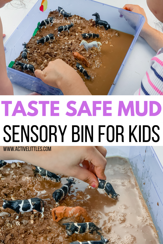diy muddy sensory play for kids