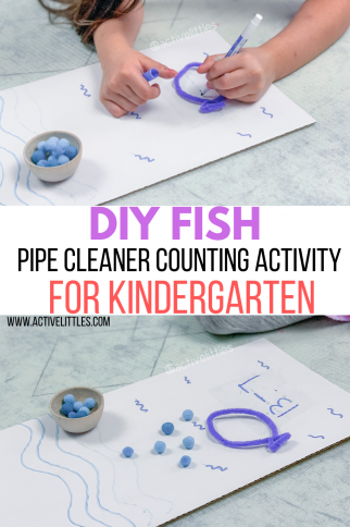 Ocean Themed Pipe Cleaner Counting Activity for Preschool and Kindergarten