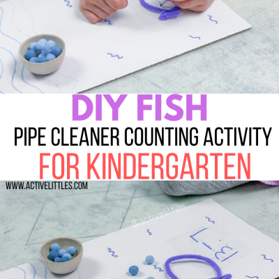diy pipe cleaner counting activity for kindergarten