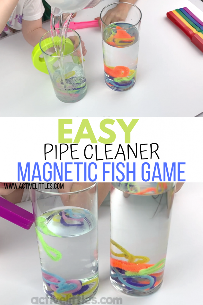 diy pipe cleaner magnetic fish game