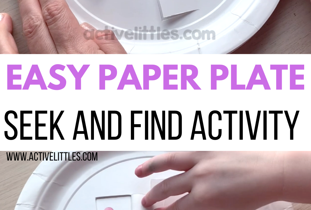 Easy Paper Plate Ice Cream Seek and Find Activity for Kids
