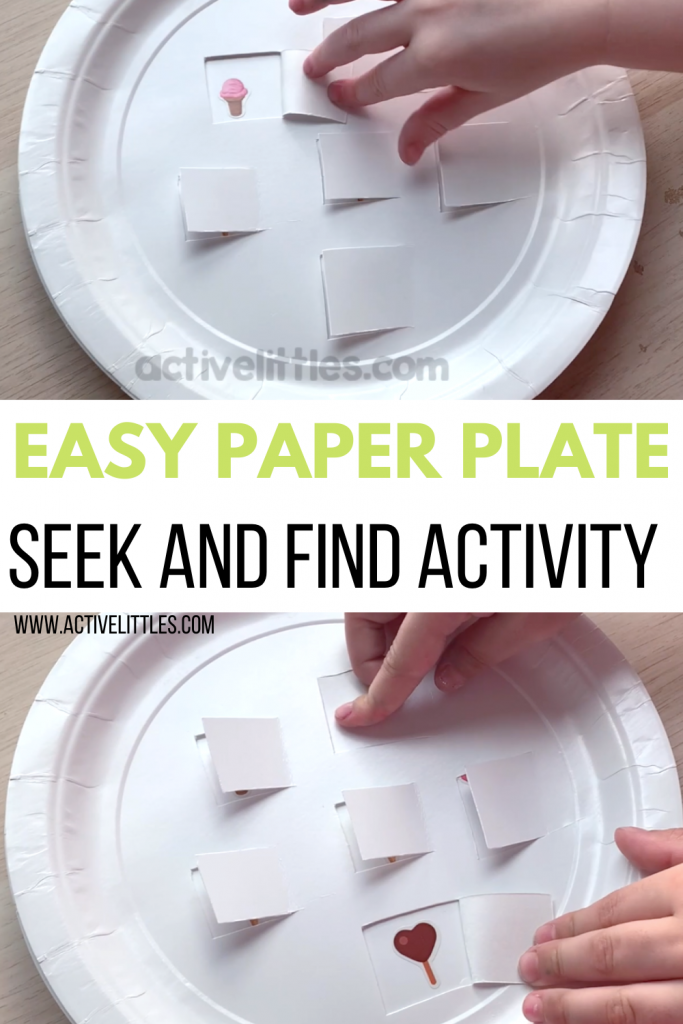 easy paper plate activity for toddlers