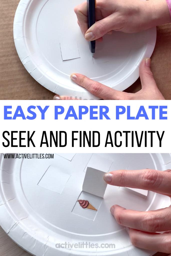 easy paper plate ice cream activity