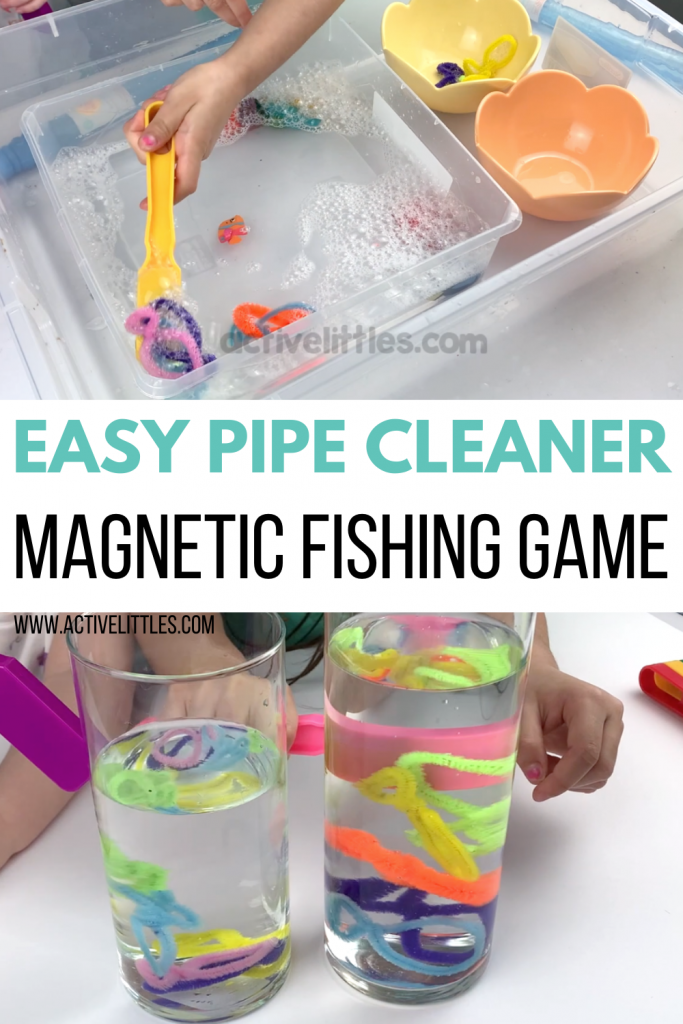 easy pipe cleaner magnet fishing game