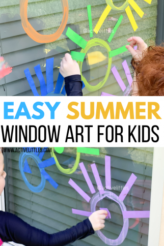 Easy Summer Foam Window Art for Toddlers and Preschool