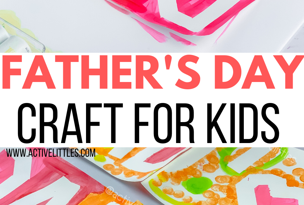 Father's Day Tape Resist Craft for Kids