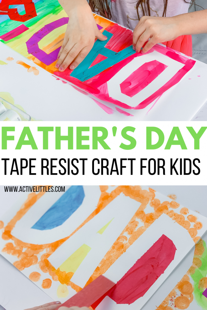 fathers day tape resist craft