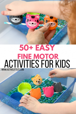 50+ Easy Fine Motor Activities for Toddlers and Preschoolers