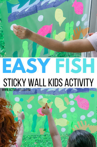 Easy Fish Sticky Wall Kids Activity