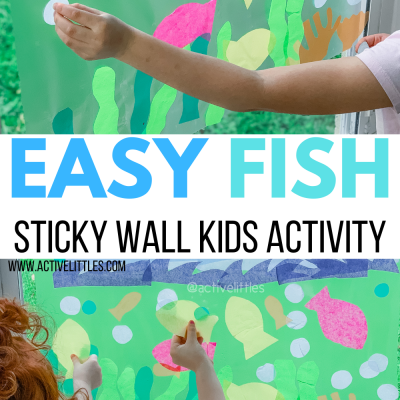 fish activity sticky wall indoor kids activity