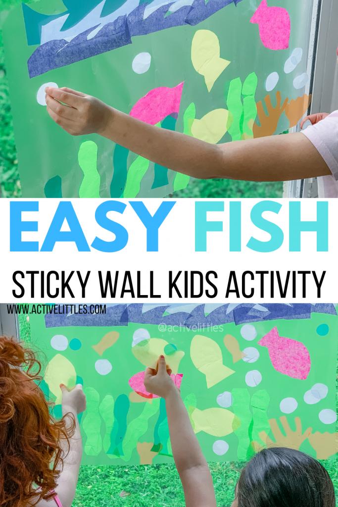 fish activity sticky wall indoor kids activity