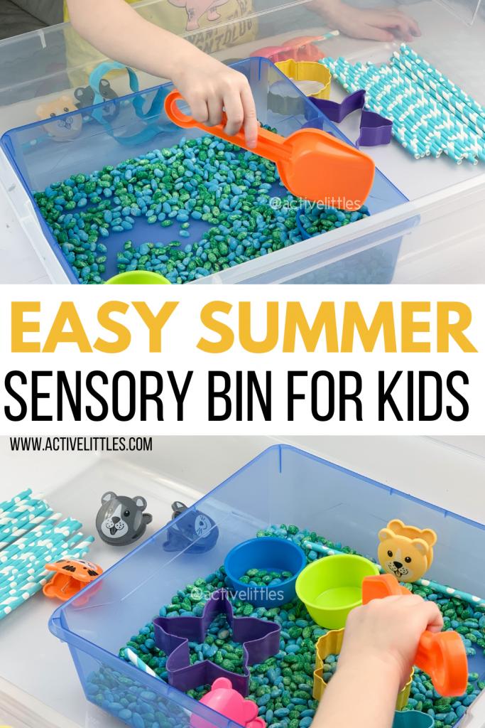 fish sensory bin for kids