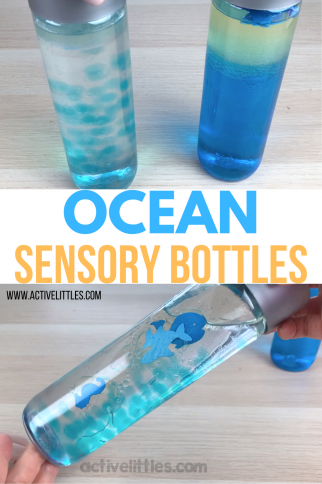 Ocean Sensory Bottle for Kids